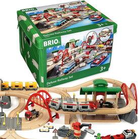 【送料無料】 木製レールセット レール&ロードデラックスセット 33052 木製 おもちゃ 知育玩具 ブリオ BRIO