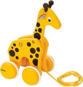 【送料無料】 プルトイ キリン 30200 BRIO ブリオ 木製 おもちゃ 知育玩具 出産祝い