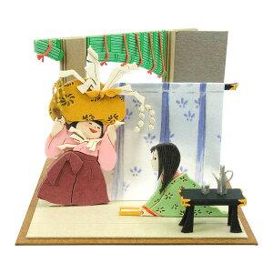 【送料無料】 ペーパークラフト みにちゅあーとキット スタジオジブリmini かぐや姫の物語 女童とかぐや姫 MP07-107