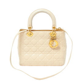 【10%OFF】クリスチャン・ディオール Christian Dior レディディオール CAL44550 ピンクベージュ【中古】