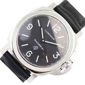 パネライ PANERAI ルミノール ベース ロゴ 44mm PAM00000 ブラック 手巻き メンズ 腕時計【中古】