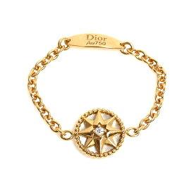 クリスチャン・ディオール Christian Dior ローズ デ ヴァン XS リング K18YG ダイヤモンド 指輪 レディース ジュエリー アクセサリー【中古】