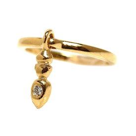 クリスチャン・ディオール Christian Dior チャームリング K18YG ダイヤモンド 指輪 レディース ジュエリー アクセサリー【中古】