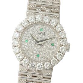 ピアジェ PIAGET ドレスウォッチ 8286G2 K18WG ベゼルダイヤ 金無垢 クオーツ レディース 腕時計 中古