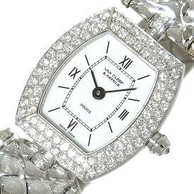 ヴァンクリーフ&アーペル Van Cleef & Arpels クラシック トノー WG無垢 ダイヤベゼル クォーツ レディース 腕時計【中古】