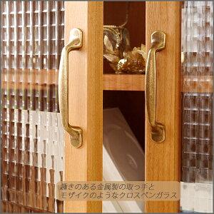 キャビネットハイタイプ木製国産ラックコレクションボード北欧完成品幅80天然木ガラス80cmボード日本製カットガラスモダンシンプルリビング収納(gt-085)