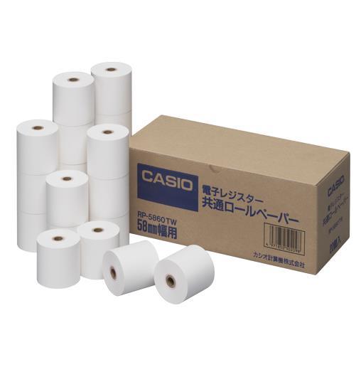 カシオ計算機[RP-5860-TW]ロールペーパー[オフィス機器][電卓・電子辞書][プリンター電卓ロールペーパー]