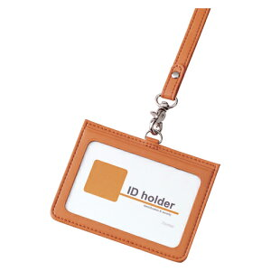 レイメイ藤井[GLP155D]イタリアン合皮IDカードケース オレンジ[事務用品][名札・番号札][名札]