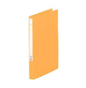 LIHITLAB[F-367-3]パンチレスファイルA4 橙[ファイル・ケース][プレス式ファイル][Zファイル]