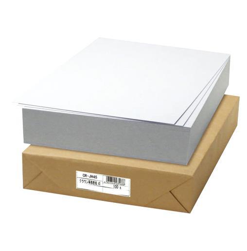 クラウン[CR-JH45-W]事務用表紙(板目表紙) 〔100枚入〕[ファイル・ケース][パンチ式ファイル][板目表紙]