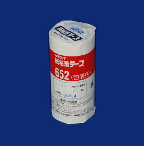 積水化学工業[NO.652 20X18-6P]紙粘着テープ652 20X18 6個入[作業用品・制服][梱包テープ・養生テープ][紙粘着テープ]