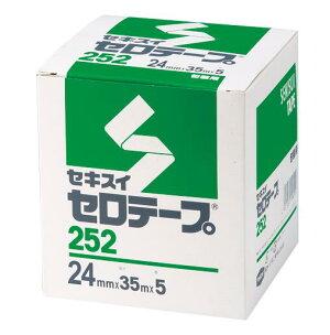 積水化学[C10BX64ハコ]セロテープ箱入24mmx35m5巻入[事務用品][貼・切用品][セロハンテープ]