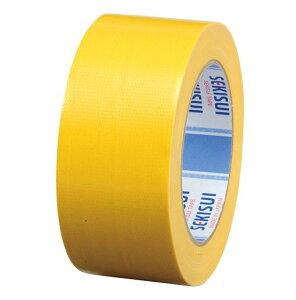 積水化学工業[600Vカラー 50X25 キイロ]カラー布テープ廉価版NO.600V 黄[作業用品・制服][梱包テープ・養生テープ][布テープ]