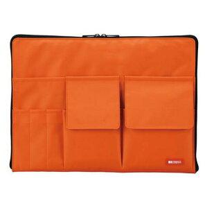 LIHITLAB[A-7554-4]バッグインバッグ A4 橙[ファイル・ケース][ケース・バッグ][インナーバッグ]
