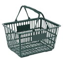 ナンシン[SWD-18ダークグリーン]ショッピングバスケット ダークグリーン[事務用品][マネー関連品・店舗用品][買い物カゴ]