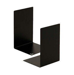 ソニック[DA-318-D]ブックエンド L型大 黒 1組(2枚)[事務用品][机上用品][ブックエンド]