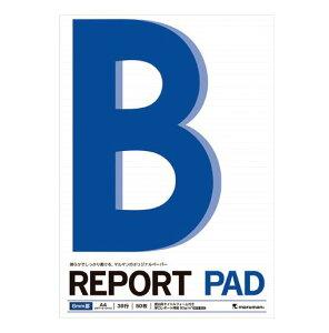 マルマン[P141A]A4レポートパッドメモリ入6ミリ罫[事務用品][ノート・手書き伝票][レポートパッド]