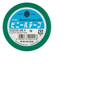 ヤマト[NO200-38-4]ビニールテープ NO200−38 緑[作業用品・制服][梱包テープ・養生テープ][ビニールテープ]
