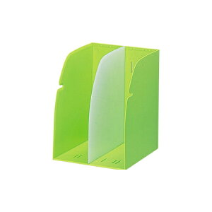 LIHITLAB[G1620-6]ブックスタンド A4 黄緑[事務用品][机上用品][ブックエンド]