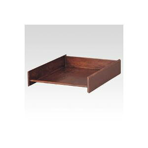 クラウン 木製スライドトレー CR-TR28-WN ウォールナット 1個