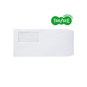 TANOSEE 窓付封筒 ワンタッチテープ付 長3 80g/m2 ホワイト 業務用パック 1箱(1000枚)