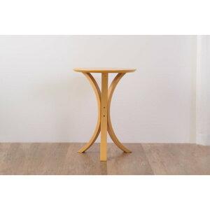 丸型サイドテーブル木製高さ54.5cmNET-410NAナチュラル