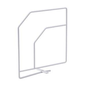 ブックエンド 【6個セット】 棚板挟み込み型 スチール製 幅20cm×高さ22cm