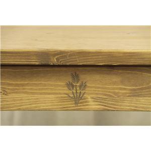 レトロ調センターテーブル/ローテーブル【幅100cm】天然木(パイン)引き出し収納付きCFS-776