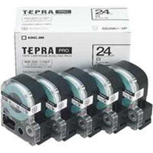 (業務用5セット) キングジム テプラ PROテープ/ラベルライター用テープ 【幅:24mm】 5個入り SS24K-5P ホワイト(白)