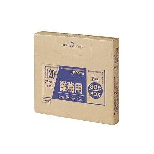 (まとめ) ジャパックス 業務用ダストカート用ゴミ袋 透明 120L BOXタイプ DKB93 1箱(30枚) 【×3セット】