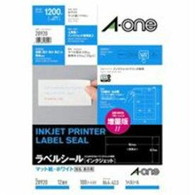 (業務用10セット) エーワン インクジェット用ラベル/宛名シール 【A4/12面 100枚】 28920