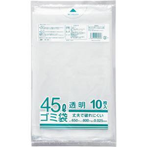 (まとめ) クラフトマン 業務用透明 メタロセン配合厚手ゴミ袋 45L HK-087 1パック(10枚) 【×30セット】