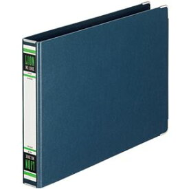 (まとめ) ライオン事務器 スプリングファイル A4ヨコ 2穴 300枚収容 背幅36mm 紺 No.100K-A4E 1冊 【×10セット】