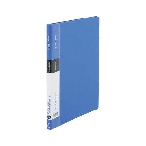 (まとめ) キングジム シンプリーズ クリアーファイル A4タテ型 20ポケット 青 シンプルデザイン 【×20セット】