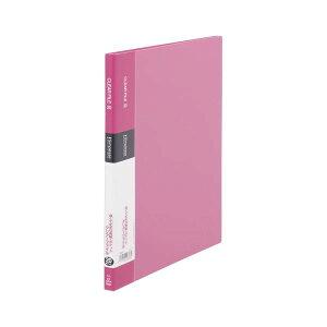(まとめ) キングジム シンプリーズ クリアーファイル A4タテ型 20ポケット ピンク シンプルデザイン 【×20セット】