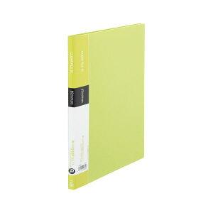 (まとめ) キングジム シンプリーズ クリアーファイル A4タテ型 20ポケット 黄緑 シンプルデザイン 【×20セット】