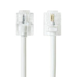 6極2芯電話機コード1mホワイト5本セットDC-201WH-5Pミヨシ(MCO)