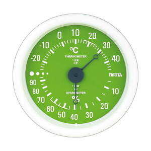 (まとめ)タニタ アナログ温湿度計 グリーンTT-515-GR 1個【×5セット】