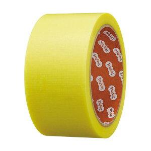(まとめ)TANOSEE カラー養生テープ 50mm×25m 黄 1巻 【×10セット】