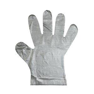 (まとめ) 子ども用 ビニール手袋/使い捨て手袋 【100枚入り 1箱】 エンボス加工 【×10セット】