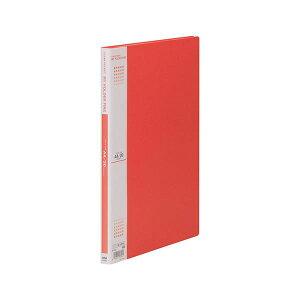 (まとめ) テージー マイホルダーファイン A4タテ型 20ポケット 赤 【×10セット】