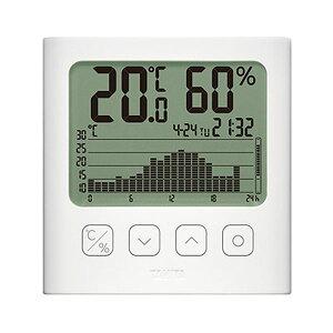 タニタ グラフ付きデジタル温湿度計ホワイト TT-580-WH 1個