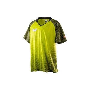 Butterfly(バタフライ) 卓球ゲームシャツ LAGOMEL SHIRT ラゴメル・シャツ 男女兼用 ライム M