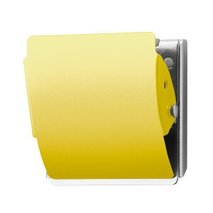 (まとめ)プラス マグネットクリップ CP-047MCR L 黄 10個【×5セット】