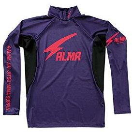 マーシャルワールド ALRH1-S-PU サンダー ロングラッシュ ハイネック 紫×黒 S