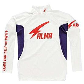 マーシャルワールド ALRH1-L-WH サンダー ロングラッシュ ハイネック 白×紫 L