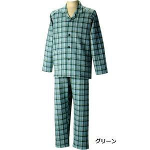 グンゼ 紳士用長袖パジャマ(秋冬用)LL グリーン C1342055