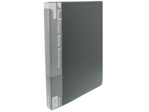 クリヤーブック エコノミー A4 40ポケット 黒 Forestway FRW-793899