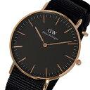ダニエル ウェリントン クラシック コーンウォール/ローズ 36mm ユニセックス 腕時計 DW00100150 (DW00600150) ブラッ…