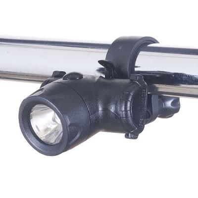 YAZAWA(ヤザワ) 自転車用LEDライト コンパクトタイプ 日亜製白色LED0.5W×1灯 [LB102BK]